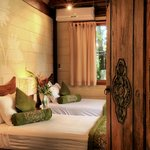 Balinese antique doors to bedroom