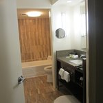 large bathroom, walk in shower on left (not in pic)