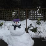 Snowman Made By Another Guest Outside Our Room