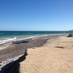 One lonely panga on the shore at Cabo Pulmo
