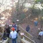 On the deck of the White Oak Tree House