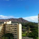 View of Diamond Head from my room