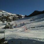 vue de la chambre depart tele ski