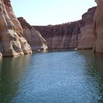 Guided boat tour into canyon