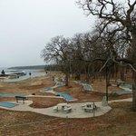 Miniature golf and lake