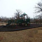 Playground by cabins