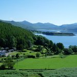 The gardens and loch at Tiroran House Hotel