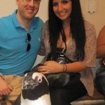 my boyfriend & i in the penguin encounter!