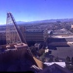roller coaster view and mountains