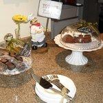 Daily free cake treats. Delicious!