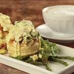 Gourmet Asparagus scrambled eggs in Puff pastry