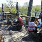 back deck of Wood's Riverbend overlooking Spring River