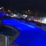 Oceans Mooloolaba pool by night