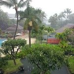 From the balcony of our room on a rainy day