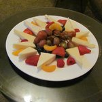 Fruit and cheese plate we had in our room on arrival (pre arranged)