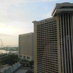 View toward Marina Bay and Gardens from room