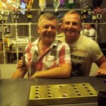 Terry &Scott in the Wilcot's bar