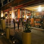 FINE WINE BAR TERRACE BY NIGHT