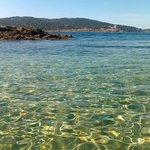 Transparence depuis la plage...