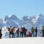 Pause bei der Schneeschuhwanderung im Montafon