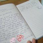 ゲストさん書き込みのノートは国際色豊かでした。