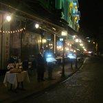 Restaurants along the street