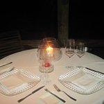 Il nostro tavolo per la cena al Blue Marlin