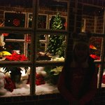 sorry it's dark, inside the magnificent gingerbread house!