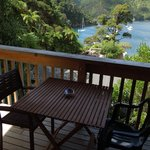 Balcony and view of our Kakariki Chalet