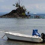 Zwemmen is mogelijk vanaf het eilandje