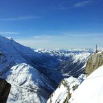 view from the top of chamonix