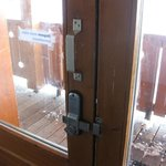 Outside door always unlocked... ski 'room' next to it