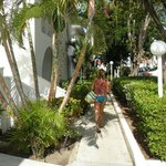 walking the resort...
