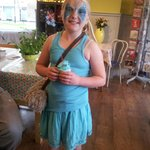 Kayleigh is as blue as a blue banana.