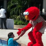 My daughter meeting Elmo