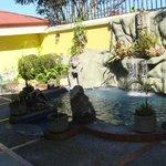 hot tub/pool area