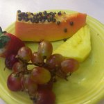 Fruits from the breakfast