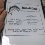 Not a catfish person?  No problem - a nice menu