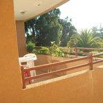 vista desde la habitacion a la terraza