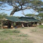 Les tentes réception, salon et salle à manger.