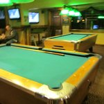 pool tables up stairs