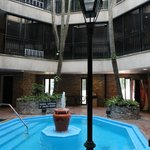interior courtyard with pool/snack machines