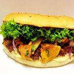 Chanterelle Mushrooms Burger