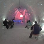 Dining at the Ice Hotel
