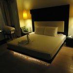 O quarto ao chegar no hotel a noite