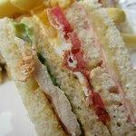 Close-up Of My Chicken Club Sandwich