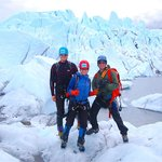 Matanuska Glacier - ice climbing with MICA Guides (here with our guide Reese)