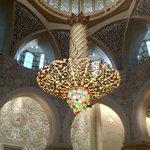 The huge chandelier