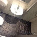 Rummet hade gått göra lite mindre och badrummet större. För