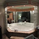 Jacuzzi bathtub in suite